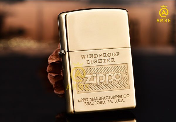 3 mẫu Zippo vàng đồng