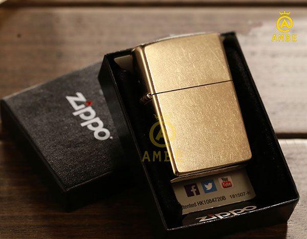 zippo vàng đồng chính hãng