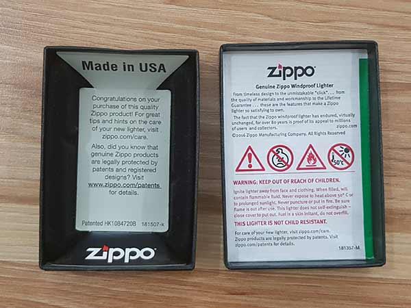 bộ hộp zippo gồm những gì