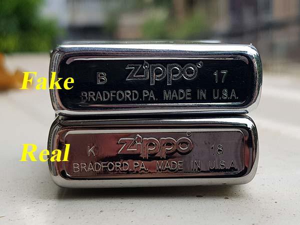 đặc điểm nhận biết zippo fake và zippo xịn