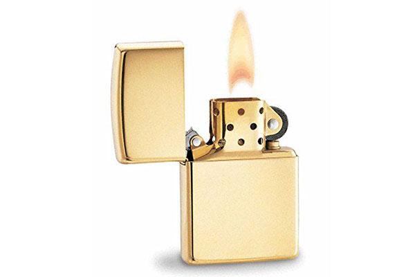 vỏ bật lửa zippo solid gold