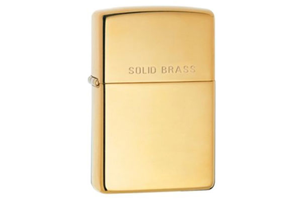 vỏ bật lửa Zippo solid brass